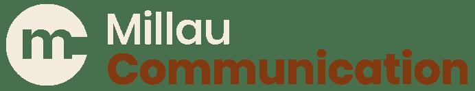 Millau Communication - logo version crème-chocolat